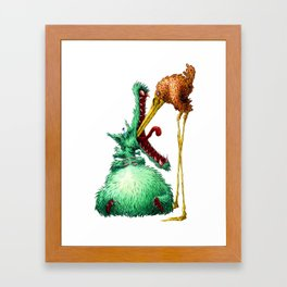 THE WOLF AND STORK Framed Art Print