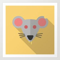 Flat-Rat Art Print