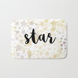 Golden Stars Bath Mat