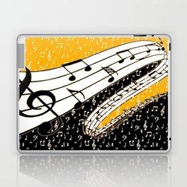Gold music theme Laptop & iPad Skin