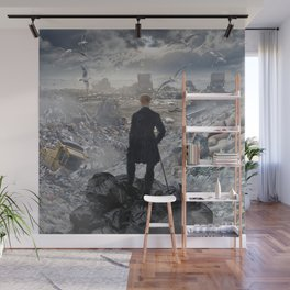 Wanderer above the Sea of Trash Wall Mural