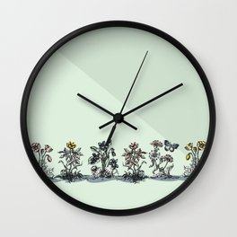 on the side of the road Wall Clock