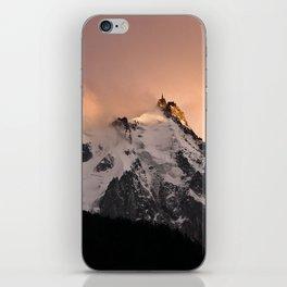 Aiguille du Midi sunset iPhone Skin