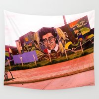 colombia Wall Tapestries featuring A tribute to Jaime Garzon Colombia misses him. by Alejandra Triana Muñoz (Alejandra Sweet