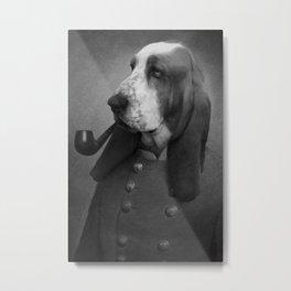 Smoking Dog Metal Print