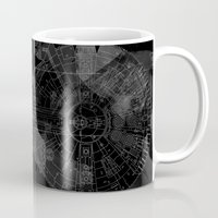 millenium falcon Mugs featuring Millenium Falcon by Black Brain