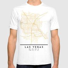 LAS VEGAS NEVADA CITY STREET MAP ART White MEDIUM Mens Fitted Tee