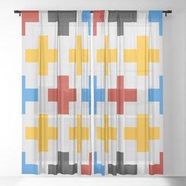 Colorful Cross Sheer Curtain