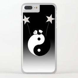 Yin & Yang panda Clear iPhone Case