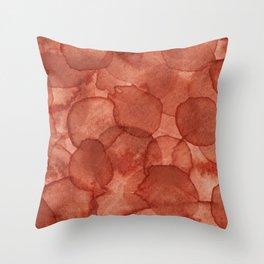 Burnt Sienna Watercolour Throw Pillow