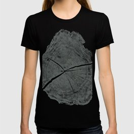 Locust Tree ring image, woodcut print T-shirt
