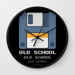 Old School Computer Floppy Diskette Wall Clock