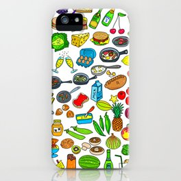 Food Lovers Variety Set iPhone Case