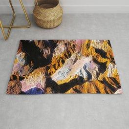Artist Palette in California's Death Valley National Park. Rug