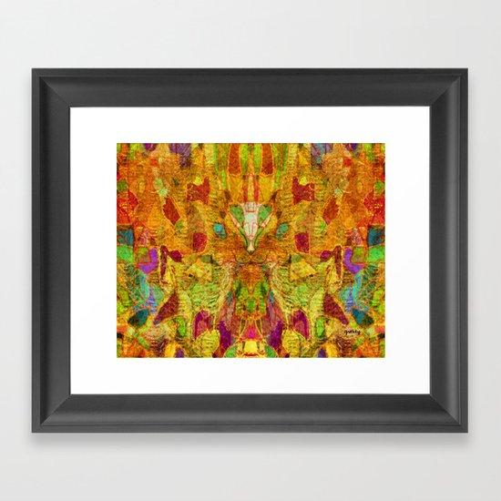 Hiding Face Framed Art Print