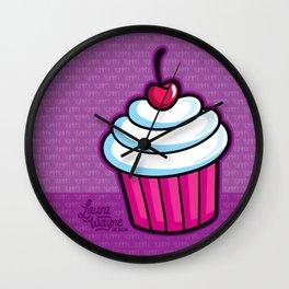 Cupcake - Laura Wayne Design Wall Clock