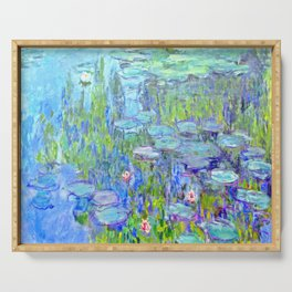 Water Lilies monet : Nympheas Serving Tray