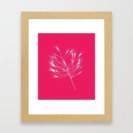 Beautiful pink weeds Framed Art Print
