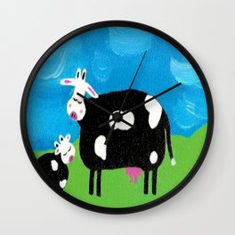 """""""A Moo-ther's Love"""" Wall Clock"""