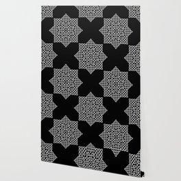 Black and White Celtic Star Wallpaper