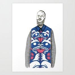 Tlingit Print Menswear Illustration Art Print