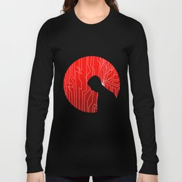 Upgrade Movie Silhouette Long Sleeve T-shirt