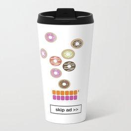 donut ad Metal Travel Mug