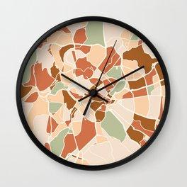 ROME ITALY CITY MAP EARTH TONES Wall Clock