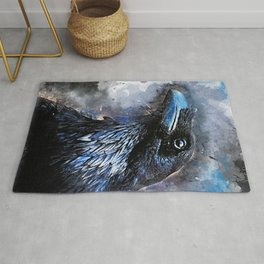 Crow art #crow #bird #animals Rug