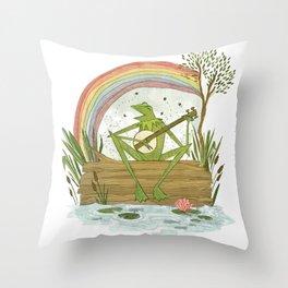 Rainbow Connection Throw Pillow