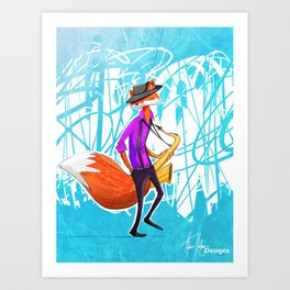 Sly the Fox Art Print