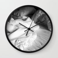 bed Wall Clocks featuring Bed by ZenaZero