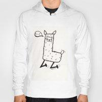 llama Hoodies featuring llama by justine