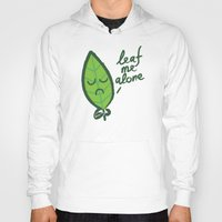 introvert Hoodies featuring The introvert leaf by Picomodi