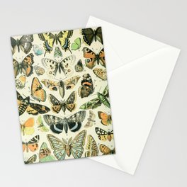 Vintage Butterfly Diagram // Papillions by Adolphe Millot XL 19th Century Science Textbook Artwork Stationery Cards