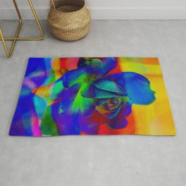 Rose Playing with Textures Rug