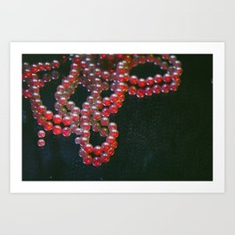 Colorful Pearls on a dirty mirror. Art Print