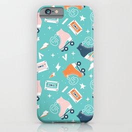 Roller skates pattern 001 iPhone Case
