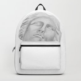 Neoclassical French head statue Backpack