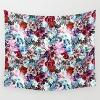 floral pattern Wall Tapestries featuring Floral Pattern by Eduardo Doreni
