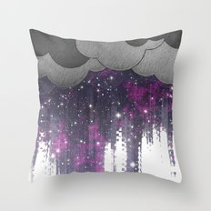 Strange Weather - Space Storm Throw Pillow