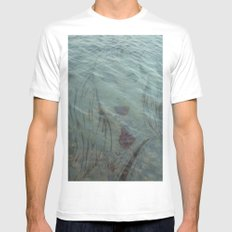 Lake Lady // Double Exposed Mens Fitted Tee MEDIUM White