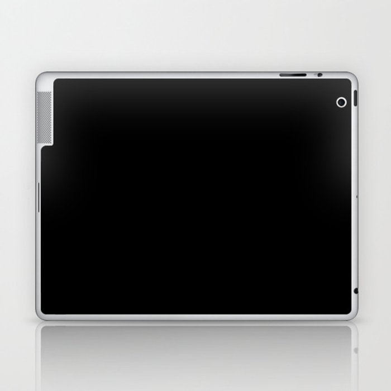 Black Minimalist Solid Color Block Laptop & iPad Skin