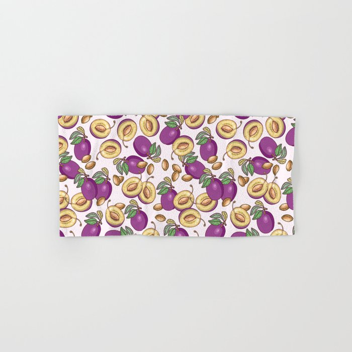 Romantic plum pattern Hand & Bath Towel
