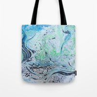 under the sea Tote Bags featuring Under Sea by Marnie