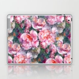 Pink floral pattern Laptop & iPad Skin