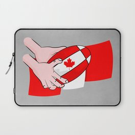 Canada Rugby Flag Laptop Sleeve
