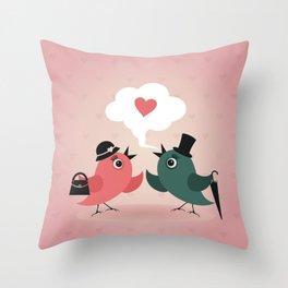 Bird of love Throw Pillow