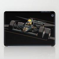 senna iPad Cases featuring Ayrton Senna x JPS by Sean Kane Design