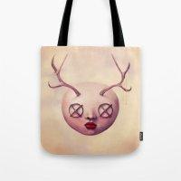 emoji Tote Bags featuring EMOJI 5 by Ryan Laing